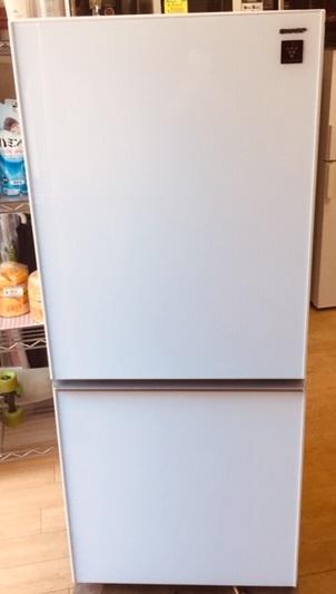 2016年製 シャープ 2ドア冷蔵庫 SJ-GD14C-W