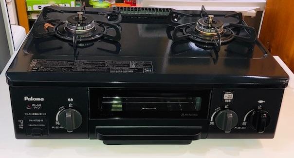 2018年製 パロマ 都市ガス ガステーブル PA-N70B-R