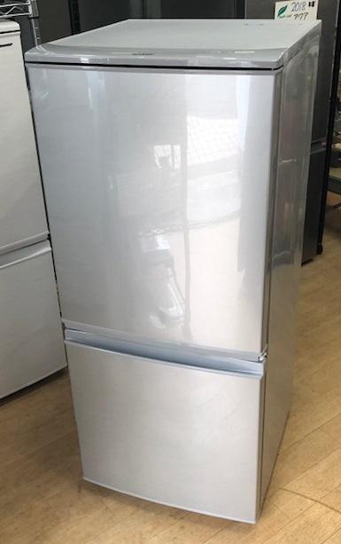 2017年製 シャープ 2ドア冷蔵庫 SJ-D14C-S