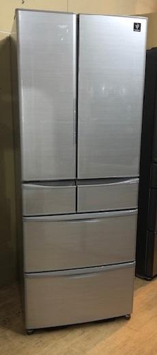 2017年製 シャープ 6ドア冷蔵冷凍庫 SJ-XF47B-S