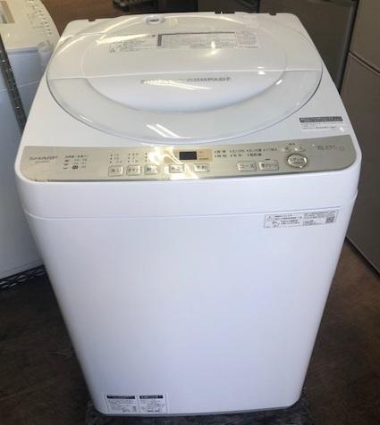 2019年製 シャープ 全自動洗濯機 ES-GE6C-W
