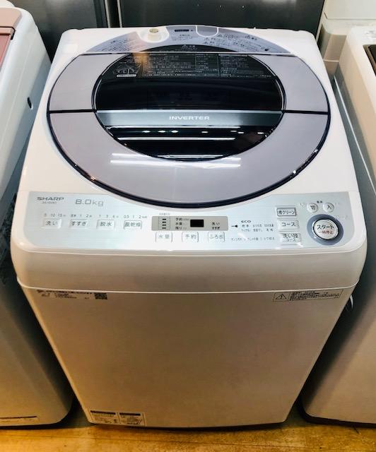 2018年製 シャープ 全自動洗濯機 ES-GV8C-S