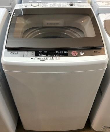 2017年製 アクア 全自動洗濯機 AQW-GV700E(W)