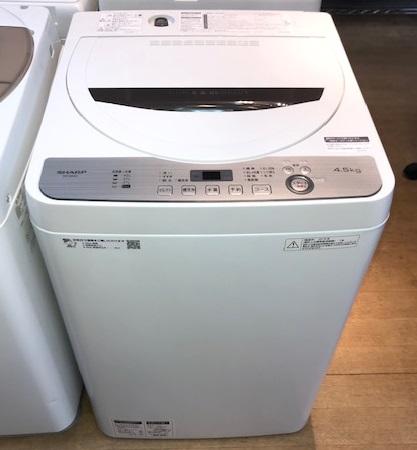 2019年製 シャープ 全自動洗濯機 ES-GE4C