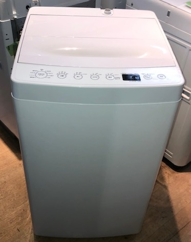 2019年製 アマダナ 全自動洗濯機 AT-WM45B