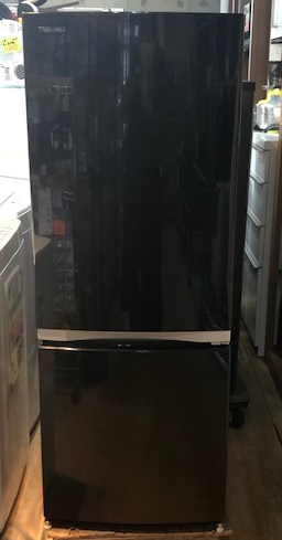 2018年製 東芝 2ドア冷凍冷蔵庫 GR-M15BS(K)