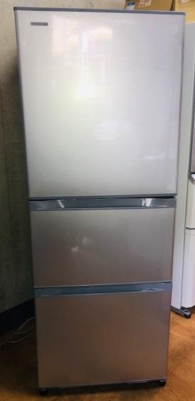 2018年製 東芝 3ドア冷凍冷蔵庫 GR-K33S(S)