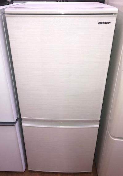 2019年製 シャープ 2ドア冷凍冷蔵庫 SJ-D14E-W