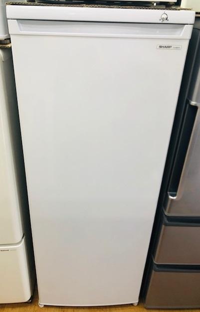 2017年製 シャープ 1ドア冷凍庫 FJ-HS17X-W