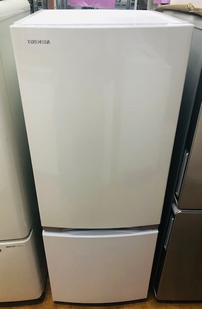 2019年製 東芝 2ドア冷凍冷蔵庫 GR-P15BS(W)