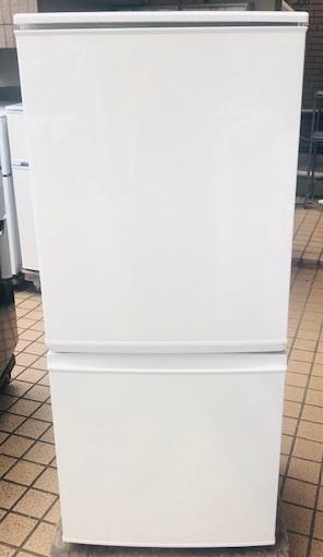 2016年製 シャープ 2ドア冷凍冷蔵庫 SJ-D14B-W