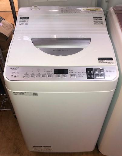 2020年製 シャープ 全自動洗濯機 ES-TX5D-S