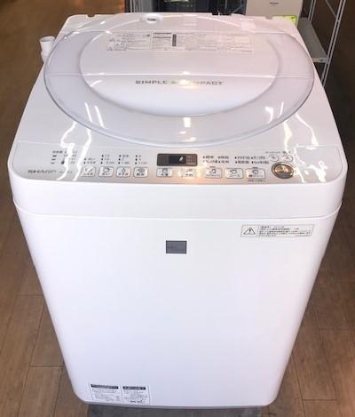 2016年製 シャープ 全自動洗濯機 ES-G7E3-KW