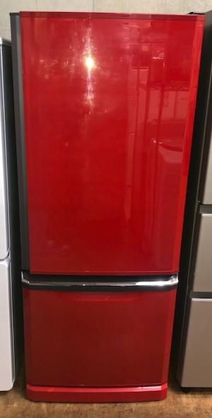 2015年製 三菱 2ドア冷凍冷蔵庫 MR-D30XーR