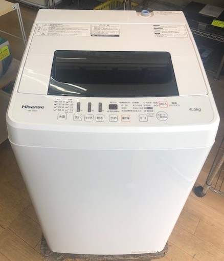 2018年製 ハイセンス 全自動洗濯機 HW-E4502