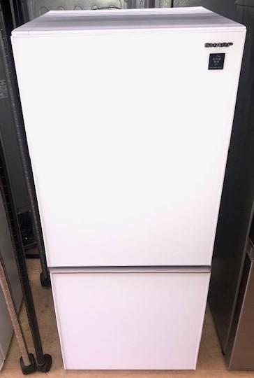 2018年製 シャープ 2ドア冷凍冷蔵庫 SJ-GD14E-W