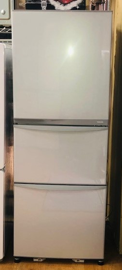 2014年製 東芝 3ドア冷凍冷蔵庫 GR-E34N(SS)