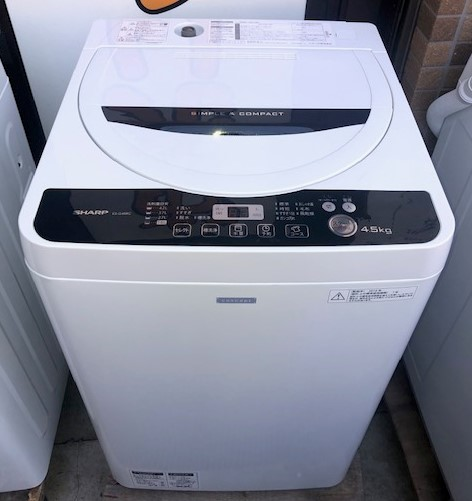 2016年製 シャープ 全自動洗濯機 ES-G45RC-W