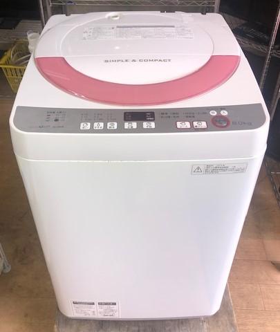2016年製 シャープ 全自動洗濯機 ES-GE60R-P