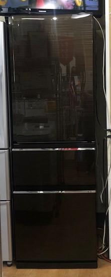 2017年製 三菱 3ドア冷凍冷蔵庫 MR-CX37A-BR1