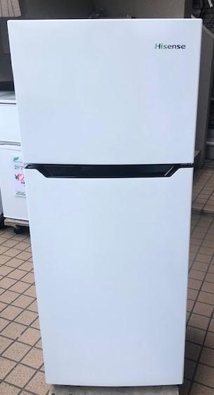 2020年製 ハイセンス 2ドア冷凍冷蔵庫 HR-B1201
