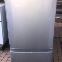 2017年製 三菱 2ドア冷凍冷蔵庫 MR-P15A-S