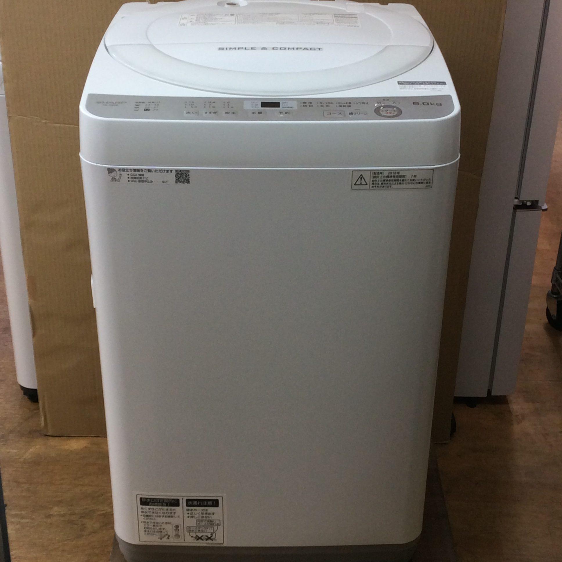 シャープ 洗濯機 6K 2018年製 ES-GE6B