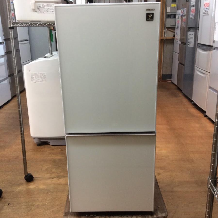 シャープ 2ドア冷凍冷蔵庫 2017年  SJ-GD14D-W