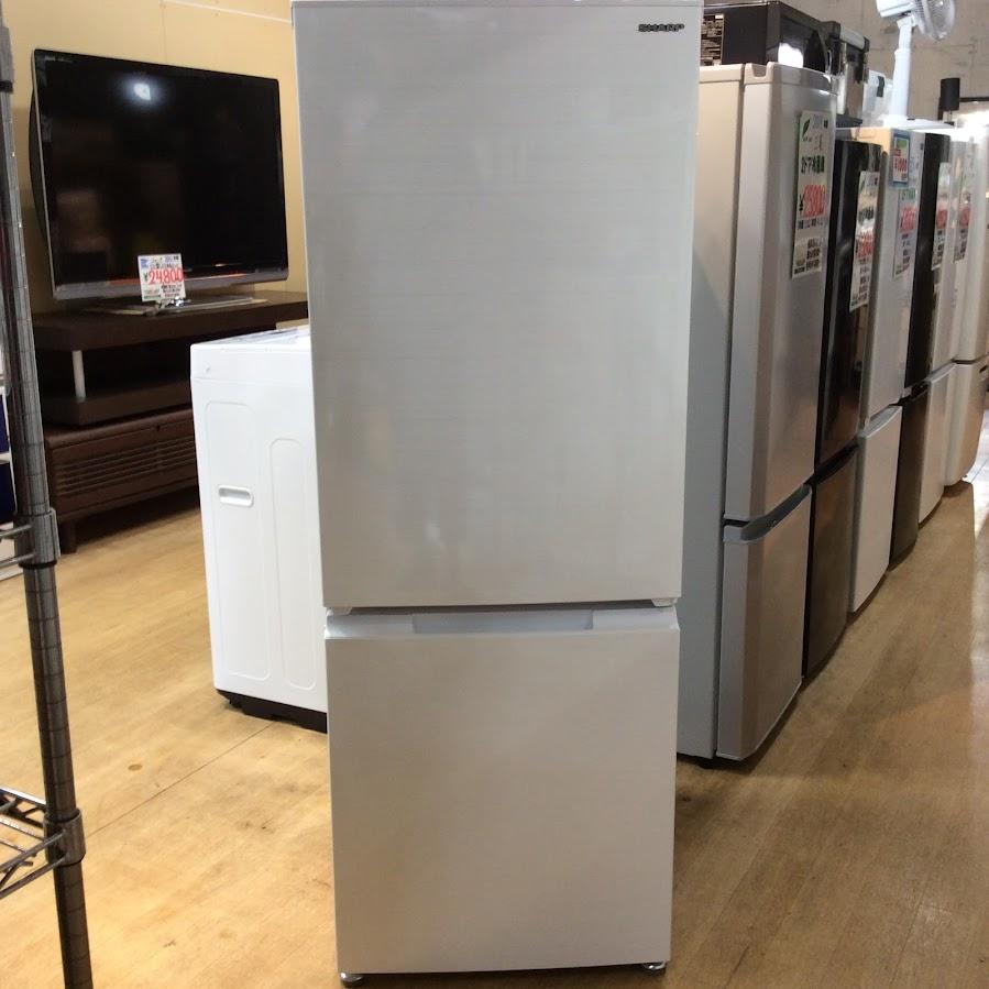 シャープ 2ドア冷凍冷蔵庫 180L 2020年 SJ-D18G-W