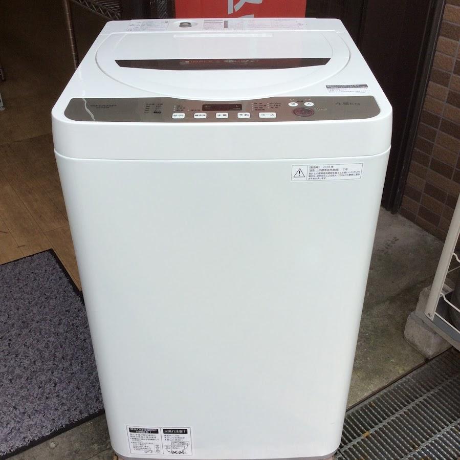 シャープ 洗濯機 4.5K 2018年  ES-GE4B