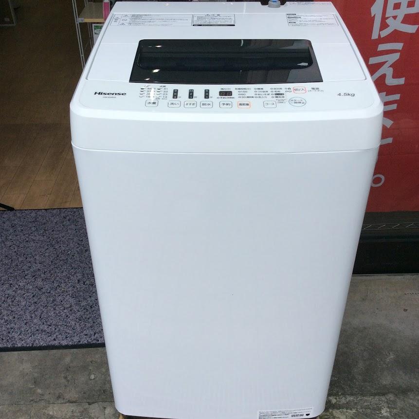 Hisense  洗濯機4.5K 2019年製 HW-E4502