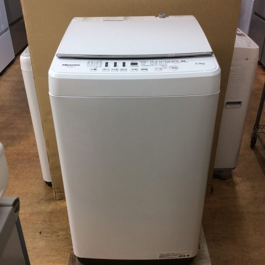 ハイセンス 洗濯機5.5K 2019年製 HW-G55A