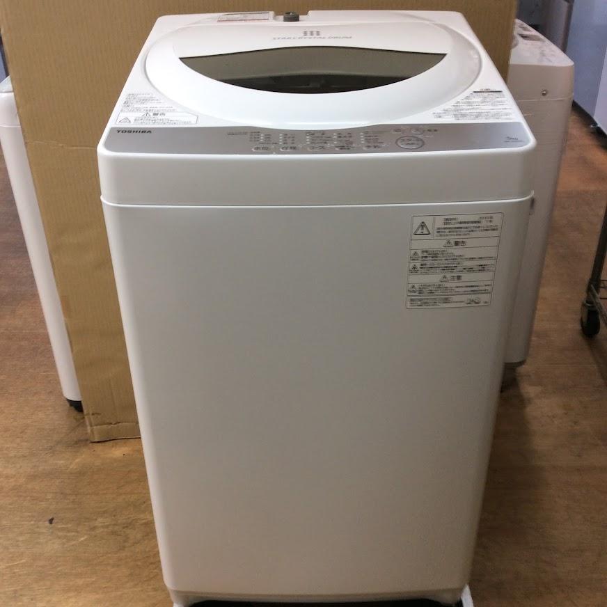 東芝 洗濯機5K 2018年製 AW-5G6